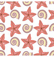 marine seamless pattern with starfish vector image vector image