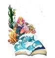 Mermaid and ocean vector image