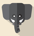 Modern Flat Design Elephant Icon vector image vector image