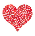 Mosaic heart icon vector image