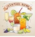 New Era Drinks Coctail menu vector image vector image