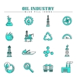 Oil industry and energy blue fill icons set vector image vector image