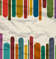 Old striped template colorful vintage background vector image