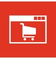 Online shopping icon design e-commerce vector image