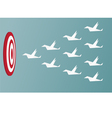 Paper Birds flying to success Leadership and team vector image