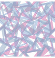 pink and blue geometric seamless pattern vector image