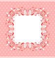 pink ornamental frame vintage decoration vector image vector image