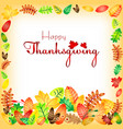 postcard for congratulations with thanksgiving vector image