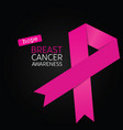 poster of breast cancer awareness vector image
