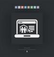 real estate website icon vector image