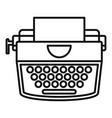 retro typewriter icon outline style vector image