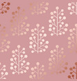 rose gold decorative pattern with floral elements vector image vector image