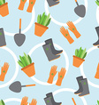 Seamless pattern tools for working in the garden vector image