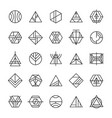 set of abstract linear hipster tribal vector image vector image