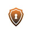 shield guard lock logo icon vector image vector image