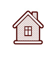 Simple village mansion icon abstract house vector image vector image