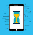 smartphone with hourglass isolated icon vector image vector image