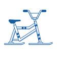 snowmobile or winter bike icon vector image