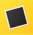 square photo frame vector image vector image