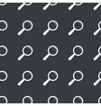Straight black search pattern vector image vector image