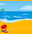 summer beach holiday abstract vector image