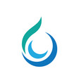 swirl waterdrop style logo vector image vector image