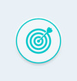 target with arrow icon goal achievement concept vector image