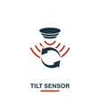 tilt sensor icon from sensors icons collection vector image vector image
