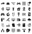 tv company icons set simple style vector image vector image
