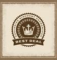 vintage best deal label vector image