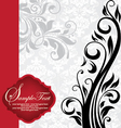 vintage invitation card with floral background vector image vector image
