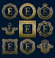 vintage monograms set of e letter vector image vector image