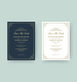 wedding invitation and save date cards vector image vector image
