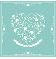 Wedding invitation with decorative heart vector image