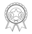 winner medal with star and wreath vector image vector image