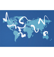 world map economies vector image vector image