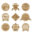 Worn Retro Abstract Signs Sale and Discount Badges vector image vector image