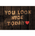 you look nice exclamation vector image vector image