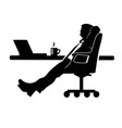 businessman silhouette of a man in a suit vector image