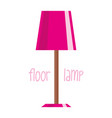 floor lamp on white background vector image