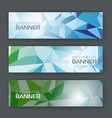 Set of banners with geometric background vector image