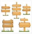 Wooden sign boards set cartoon wooden sign vector image