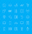 line household icons vector image