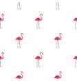 pink flamingo pattern seamless vector image
