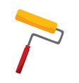 simple paint roller object drawing graphic vector image