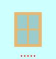 window set it is color icon vector image