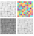 100 shopping icons set variant vector image vector image