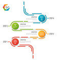 abstract 4 steps road timeline infographic vector image vector image