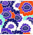 abstract flower and foliage seamless vector image vector image