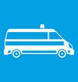 ambulance car icon white vector image vector image